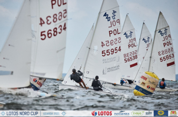 LOTOS Nord Cup Gdańsk 2021, DZIEŃ 2 -klasyFinn, Europa, 420, 470, Hobie Cat 14 i 16, OK-Dinghy, Open Skiff i RS 21